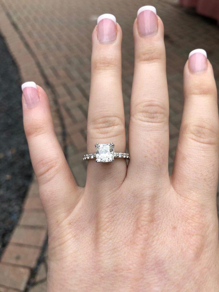 ENGAGEMENT RING-princess diamond Mount Pocono, Tannersville, Stroudsburg PA