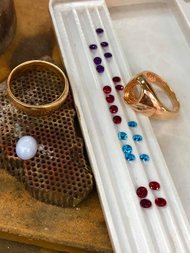 white star sapphire ring